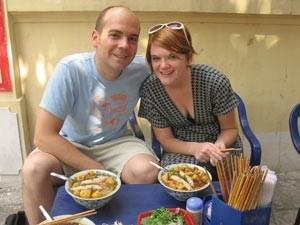 met stokjes eten in china