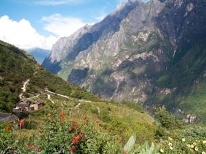 Weer China - Uitzicht bergen