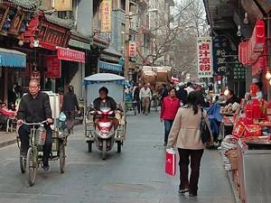 china straatbeeld xian