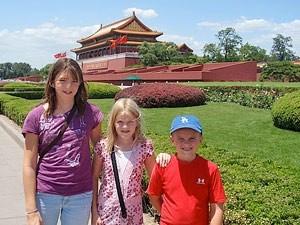 verbodenstad in china met kinderen
