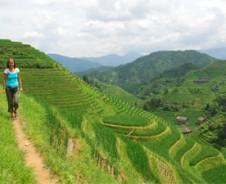 Rijstterassen en Zhuangdorpen