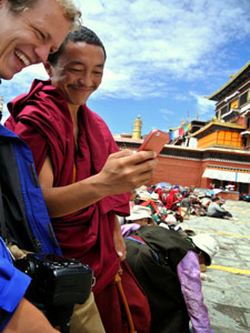 monnik tibet telefoon china reis