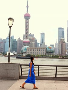 Bund in Shanghai China