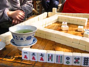 Chengdu China theehuis mahjong