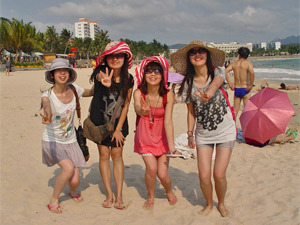 chinezen hainan strand china