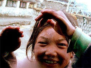 meisje voor de camera china