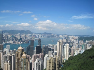 hongkong skyline china reis