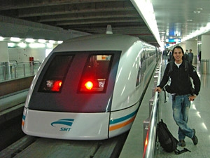 maglev trein shanghai china