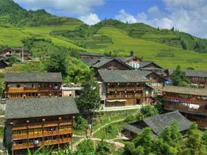 pingan dorp rijstvelden china