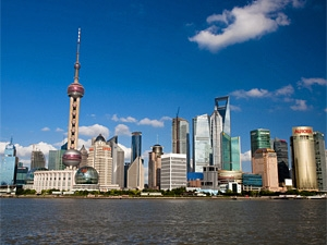 shanghai skyline stedenreis china