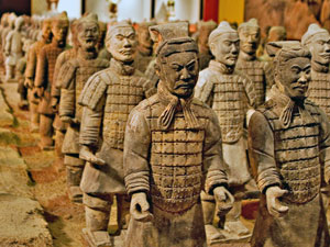 terracotta leger xian china
