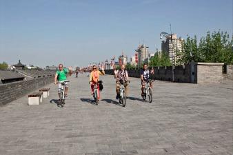 Xian stadsmuur fietsen