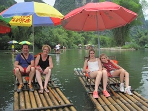 Yangshuo bamboevaren China