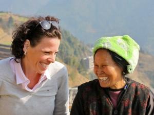 Vakantie China - lachende vrouwen