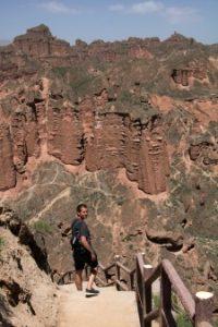 Danny in de Binggou Canyons