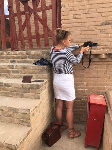 Filmpje opnemen op de Chinese Muur