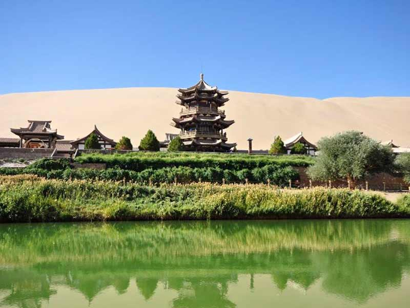Oase_Dunhuang China Rondreis