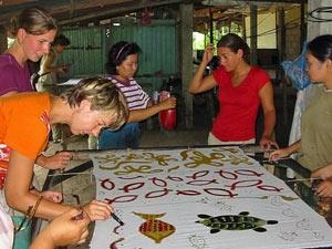 batik schilderen kampung maleisie