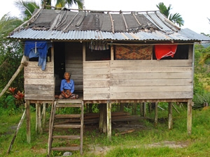 huisje op borneo maleisie