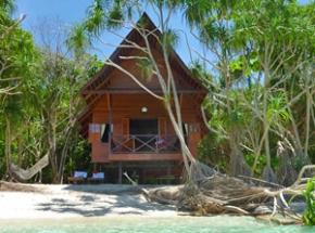 bungalow aan strand lankayan borneo