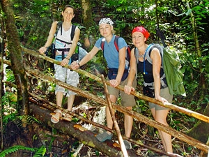 jungle trekking borneo