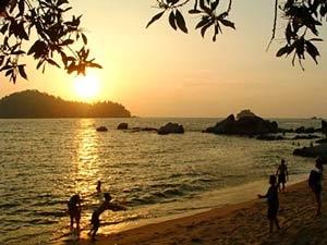 oostkust zonsondergang maleisie