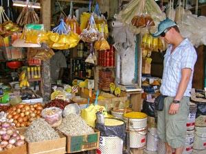 lokale markt kuching maleisie
