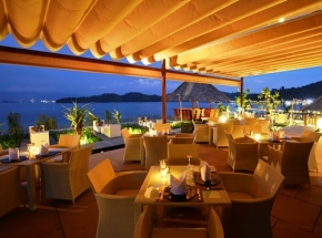 restaurant Gaya Island borneo