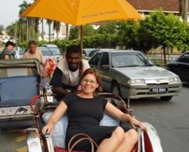rondrit trishaw maleisie reizen