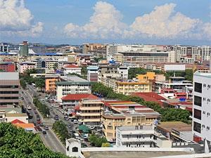 uitzicht kota kinabalu borneo