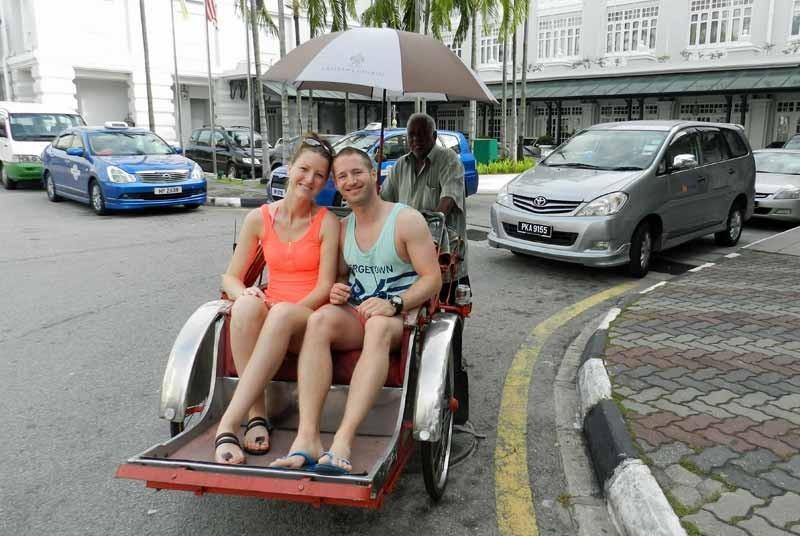 Riksja - vakantie Maleisie