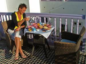 marokko ontbijt dakterras