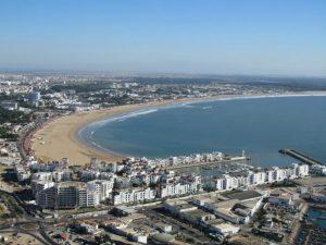 Strand Agdir uitzicht punt