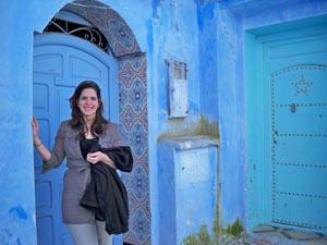 Witte plaza's, blauwe medina's