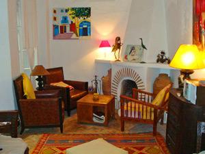 marokko essaouria riad comfort woonkamer