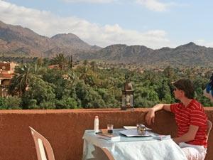 marokko eten uitzicht
