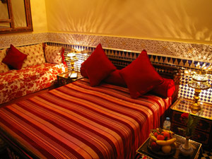 marokko fes riad rood