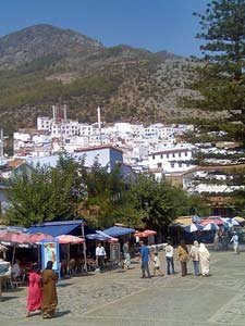 marokko plein chefchaouen