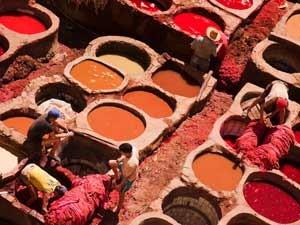 marokko leer fes