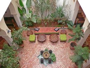 marokko riad rabat binnentuin