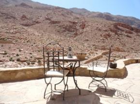 marokko grot todra kloof terras