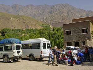 trekking marokko minibus