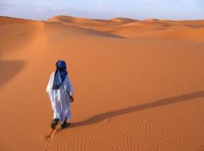 Karavaan naar de woestijnduinen