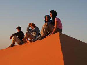 marokko zonsondergang woestijn