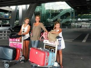 met kinderen naar Sri lanka - vertrek
