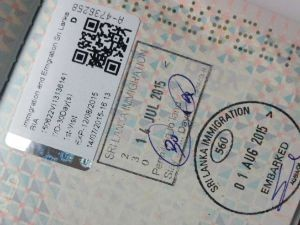 Sri Lanka visum en geld