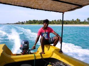 snorkelen met kinderen Sri Lanka - met de boot naar Pigeon Island