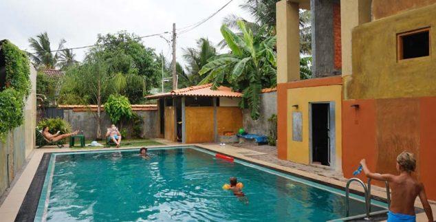 Negombo Sri Lanka Kids - familiekamer zwembad