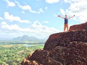 familiereis Sri Lanka - beklimmen Sigiriya Rots
