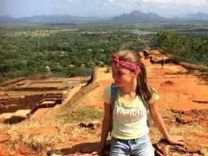 Bovenop Sigiriya Rots tijdens je rondreis Sri Lanka met kinderen